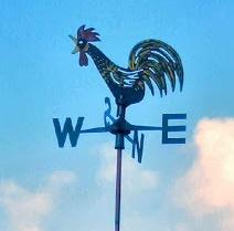 Rooster wind vane